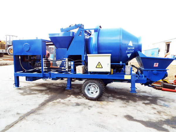 concrete mixer with pump machine